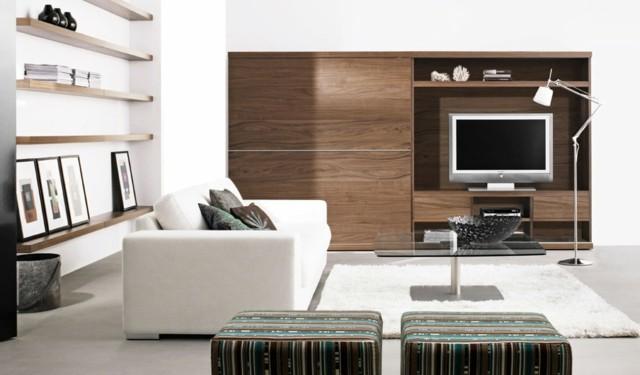 salon moderno diseño estanterias muebles estilo vintage