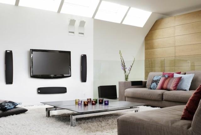 salón moderno pared blanca mesa diseño baja