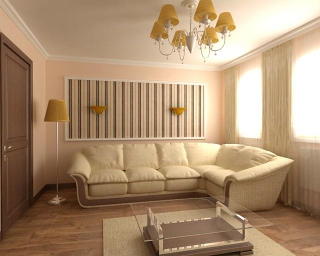 salón moderno simple estrecho lampara interesante estilo