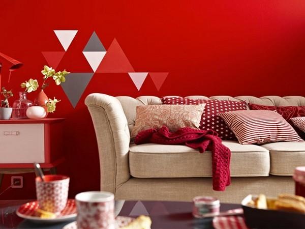 salon rojo decoración jóven