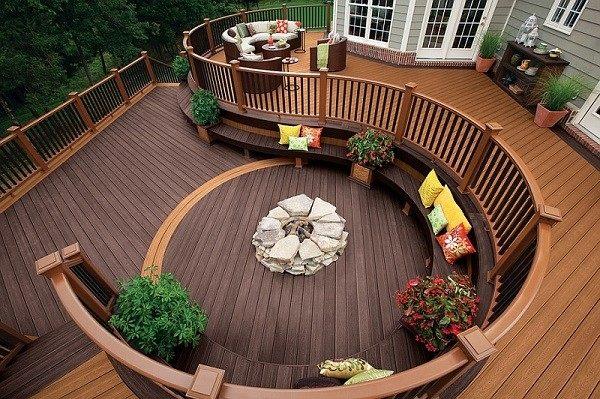 salones modernos terrazas madera plantas jardin cojines