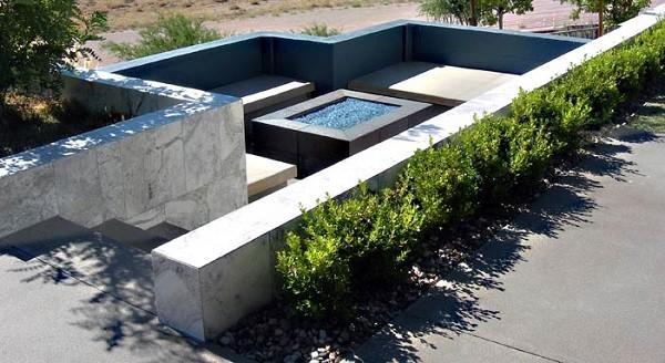 salones modernos terrazas piedras patio plantas