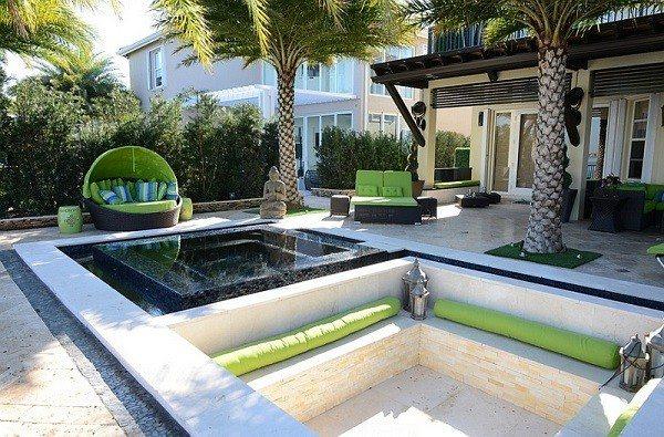 salones modernos terrazas plantas tumbonas diseño