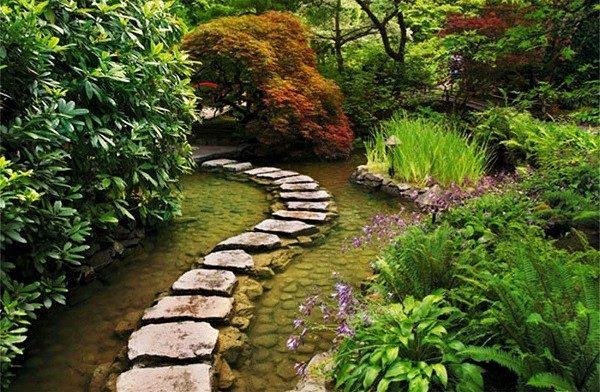 sendero camino bonito lago piedras