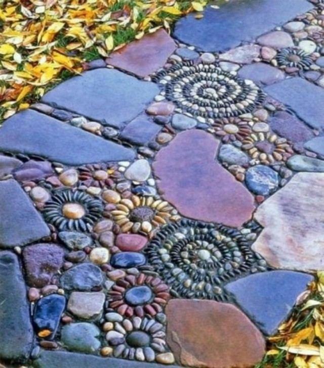 senderos piedra formas dibujos caracoles