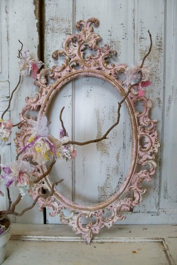 Shabby chic 25 ideas para un estilo sublime for Decoracion marco espejo