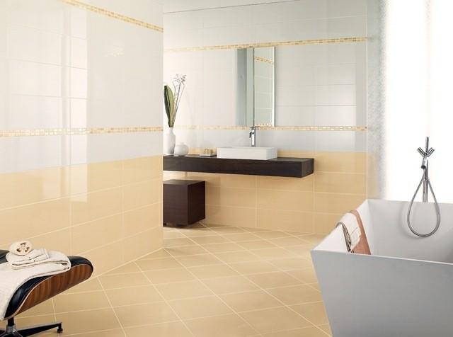 Azulejos para ba os modernos 50 ideas incre bles - Ceramica beige para bano ...