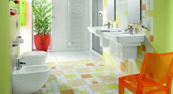 silla colores mueble plantas macetas