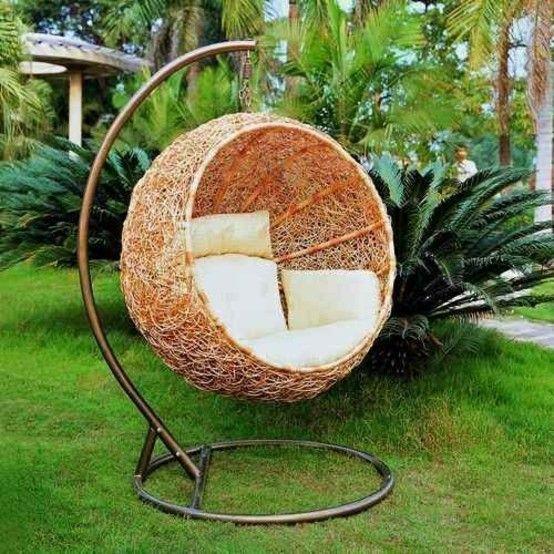 silla columpio colgante campo cojines mimbre
