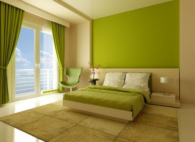 silla verde cortinas calido decoracion alfombras