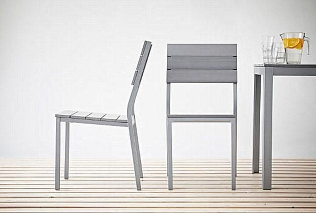 sillas aire libre madera gris comodas estilo