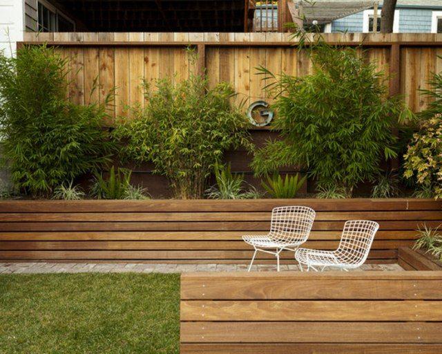 sillas jardin madera bambumetal