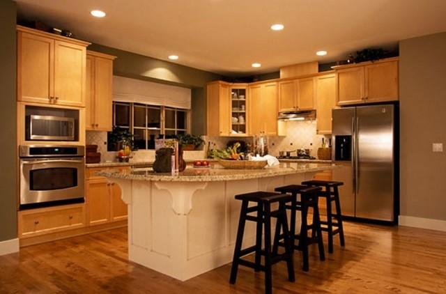 sillas lamparas comedor calido cocina luminarias