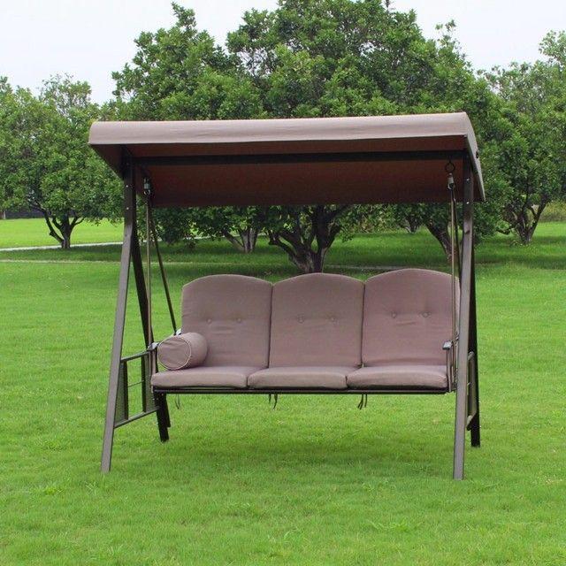 sillon sofa colgante columpio marron