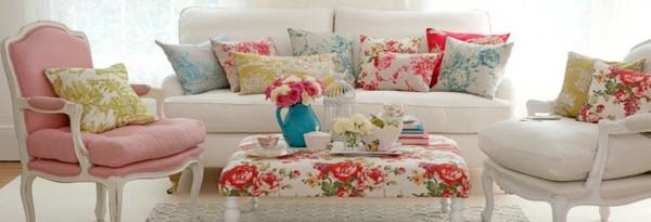 sofá colores estilo shabby chic