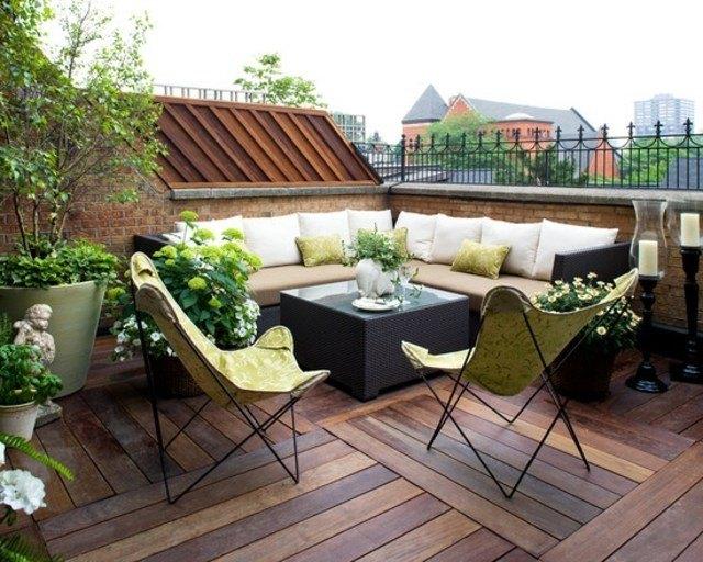 sofa terraza sillas decoración exterior