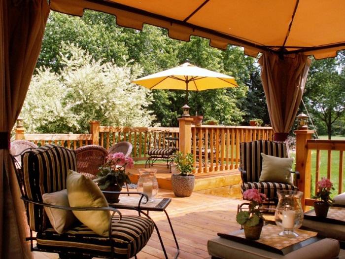sombrilla jardin protege sol terraza aire libre