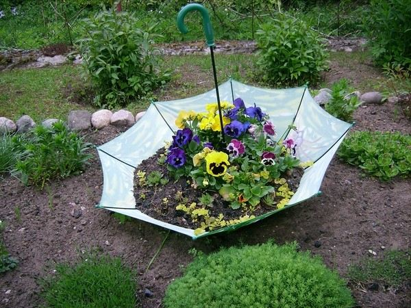 sombrilla plantas diseño jardineria creativo manualidades