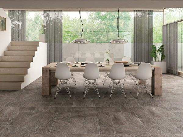 suelo gris comedor terraza mesa