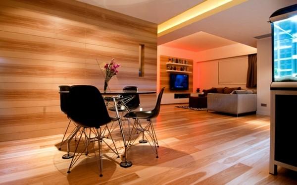 suelos laminados madera pared salón