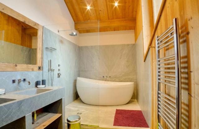 techo pared madera marmol lavabo original bonito