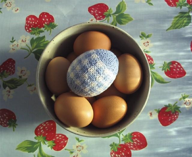 tejido huevo colores mesa tejido adorno