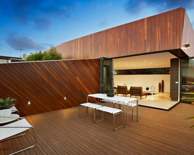 terraza decoracion moderna madera comedor