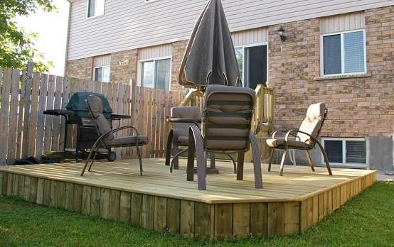 terraza exterior madera jardin plataformas muebles