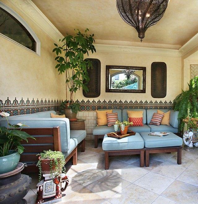 Decoraciones de terrazas en estilo marroqu Azulejos para terrazas