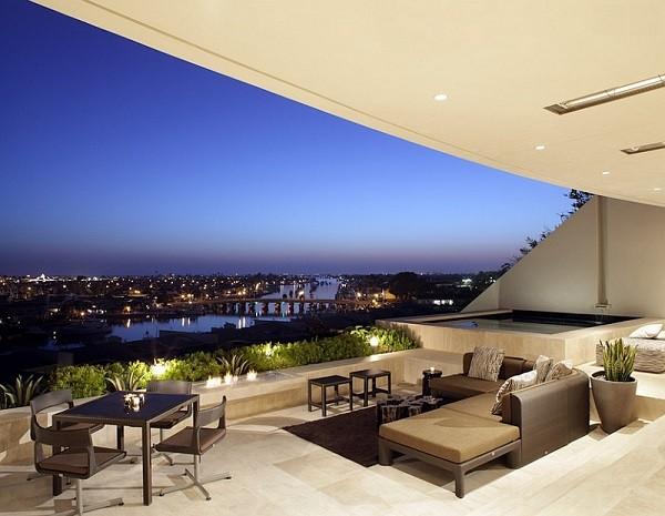 terraza muebles modernos plantas terraza