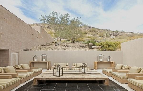 terraza muebles palet jardín