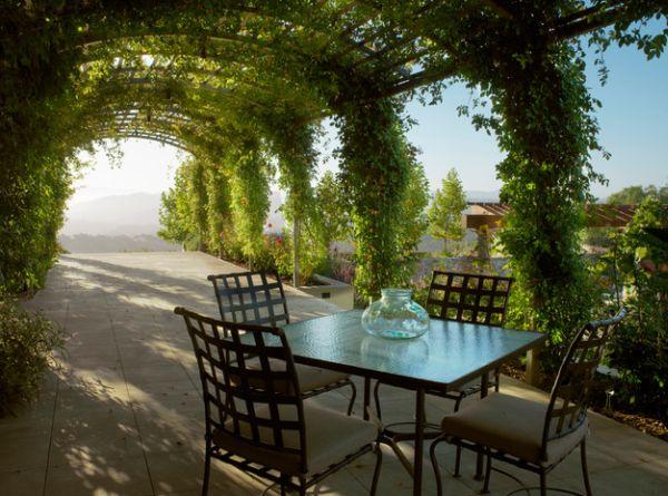 P rgolas de madera un oasis en medio de tu jard n - Imagenes de terrazas con plantas ...