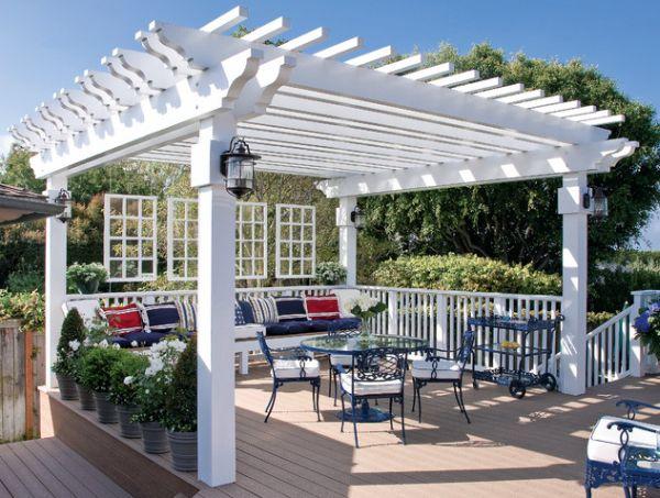 terraza muebles sillas metal madera plataforma