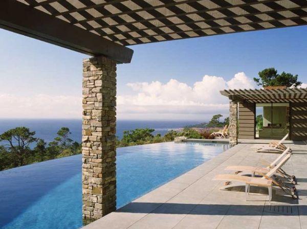 terraza tumbomas decoracion moderno rocas piscina
