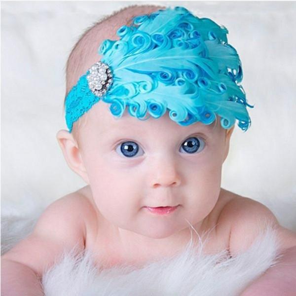 tocado diadema azul charleston plumas
