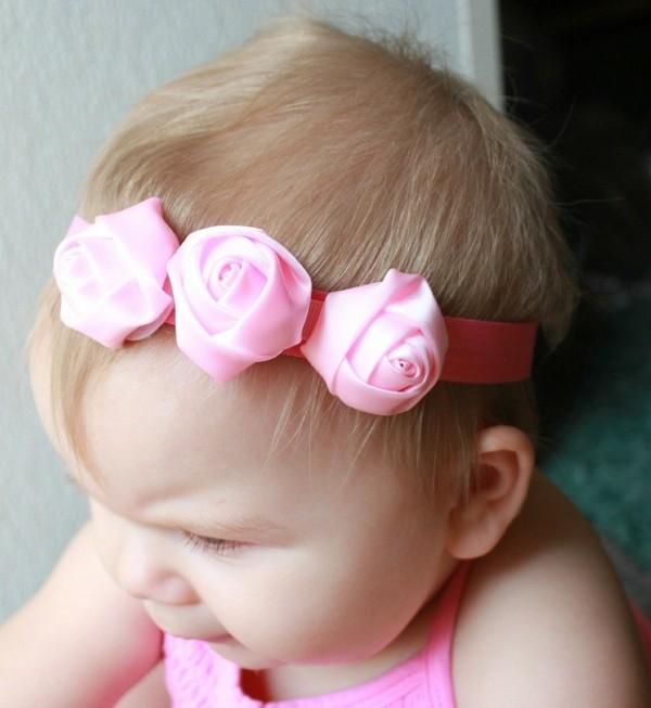 diademita tres rosas bebé