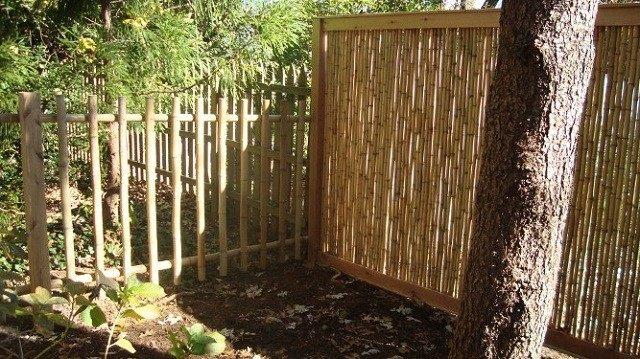 vallas de madera arboles obra bambu