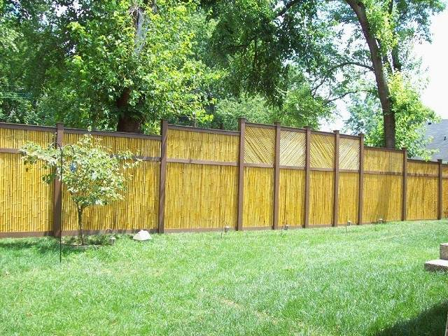vallas de madera cesped patio cesped jardin