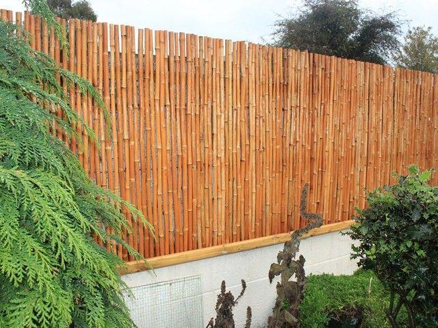 vallas de madera patio trasero muro hormigon