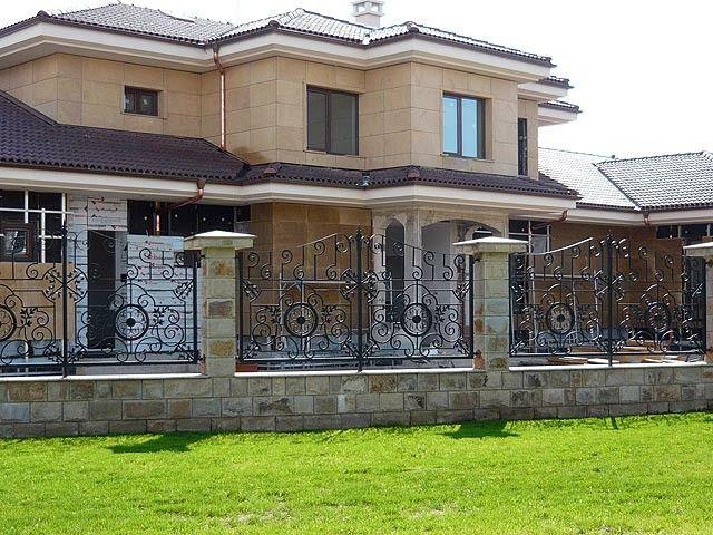 vallas jardin metal forjado piedra