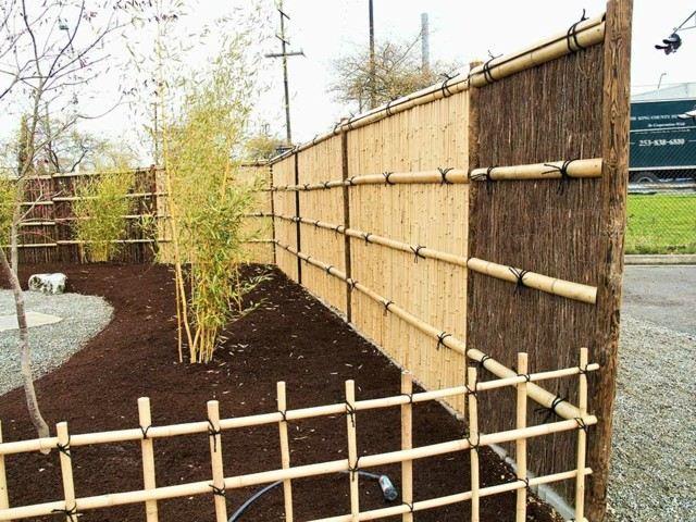 vaya bambu cercado mantillo plantas