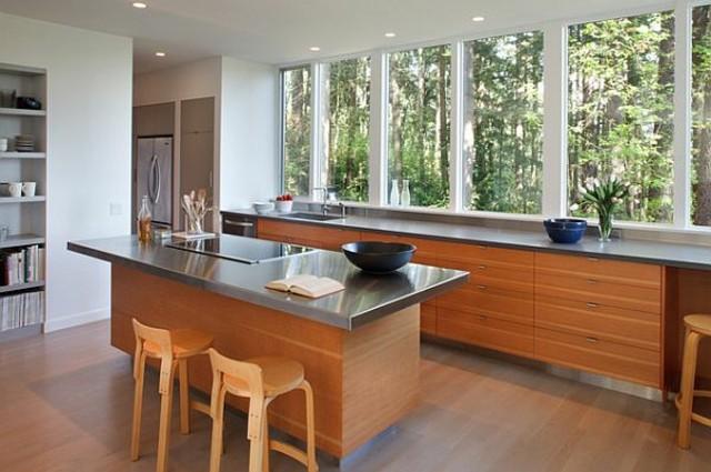 ventanas de aluminio cocina grandes dificiles limpiar