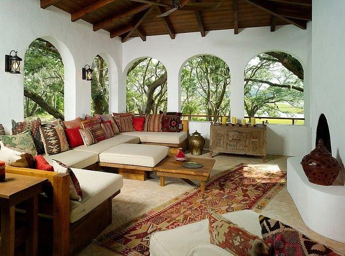 decoraciones de  terrazas ventanas arco marroqui estilo toque oriente medio