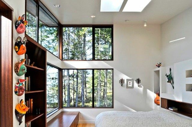 ventanas de aluminio dos nivele dormitorio casa