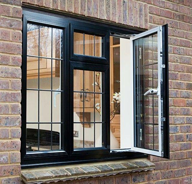 ventanas de aluminio negras gruesas