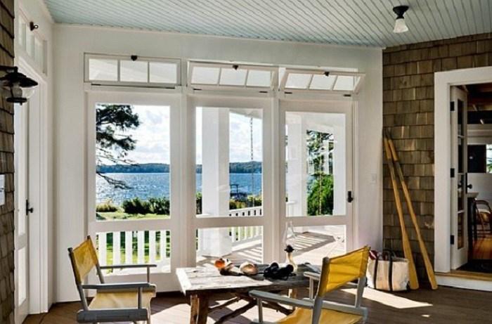 ventanas de aluminio porche vista mar