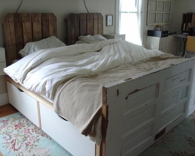 shabby chic verdadero estilo cama vieja hecha mano