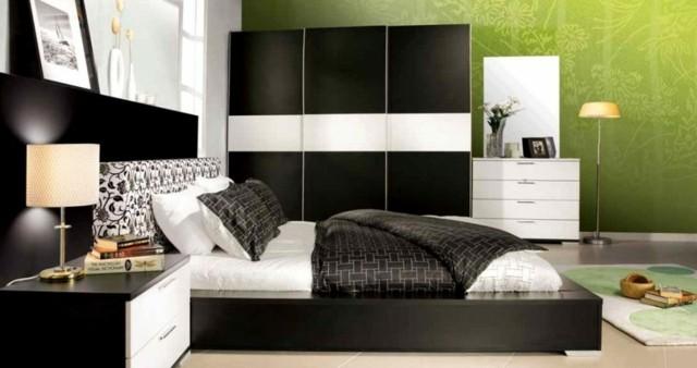 verde cama lampara armario libros accesorios