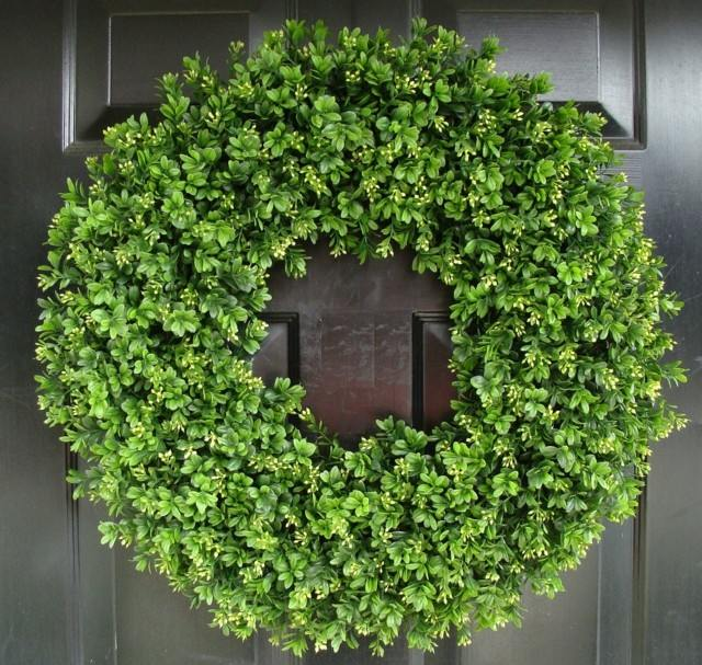 verde decoracion interesante primavera puerta colgada