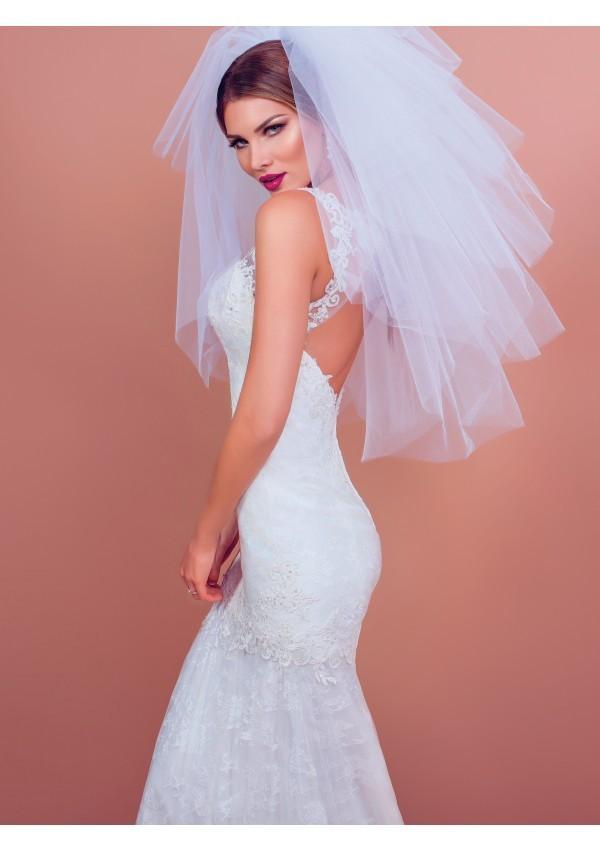 vestido de novia diseño estilo lazo delicado Sabrina moderno